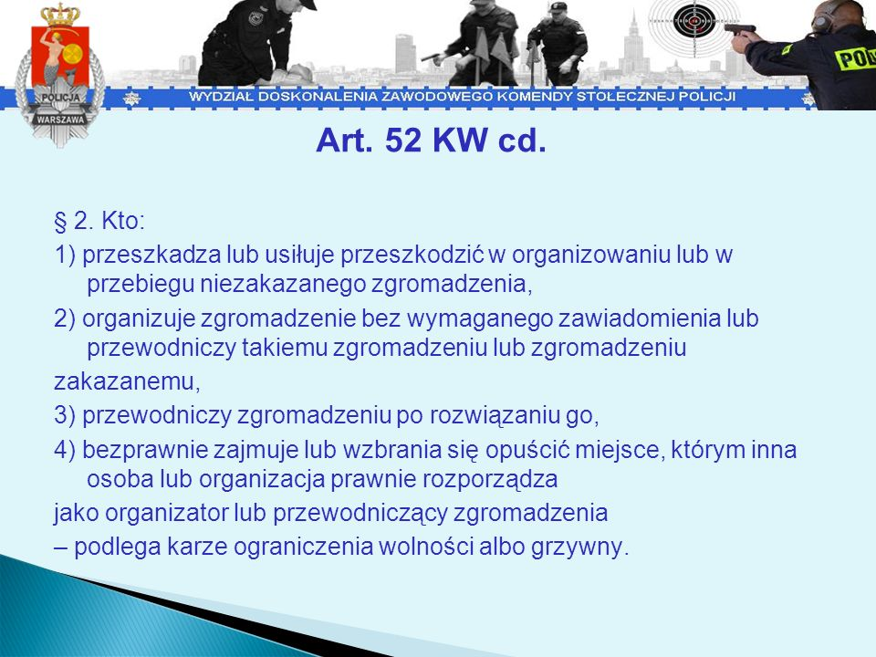 Art. 52 KW cd.