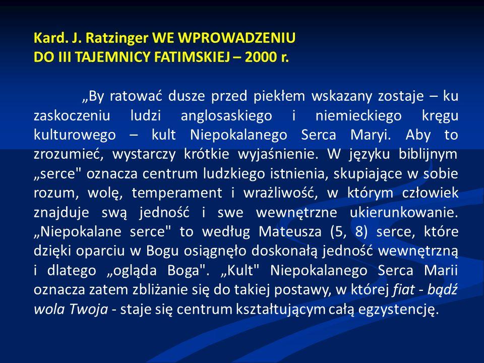 Kard. J. Ratzinger WE WPROWADZENIU
