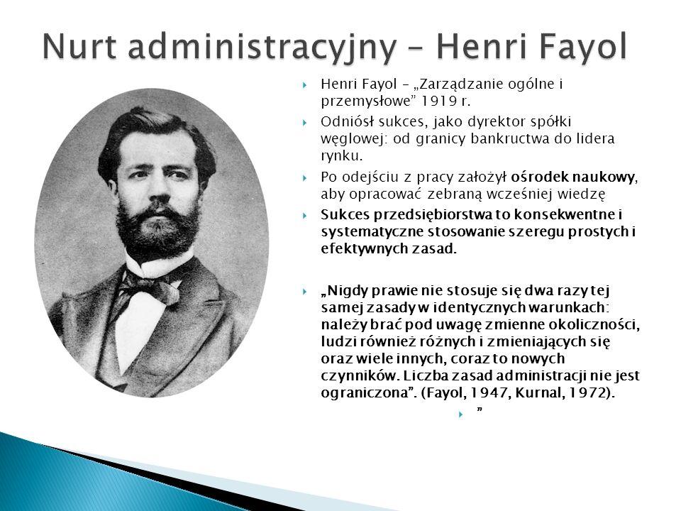 Nurt administracyjny – Henri Fayol