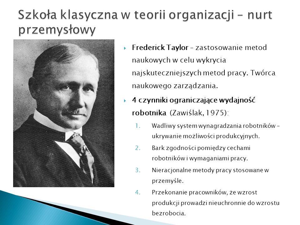 Szkoła klasyczna w teorii organizacji – nurt przemysłowy