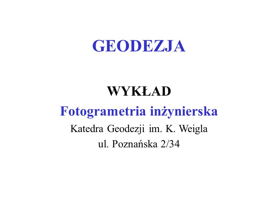 Fotogrametria inżynierska