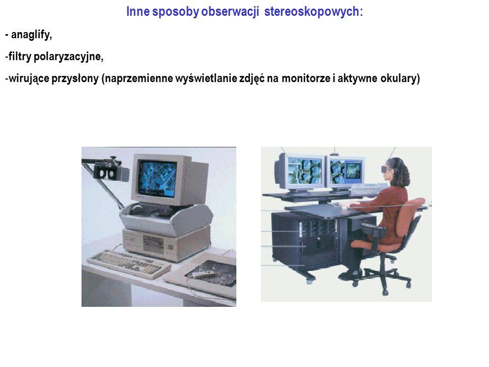 Inne sposoby obserwacji stereoskopowych: