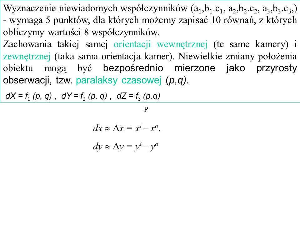 Wyznaczenie niewiadomych współczynników (a1,b1. c1, a2,b2. c2, a3,b3