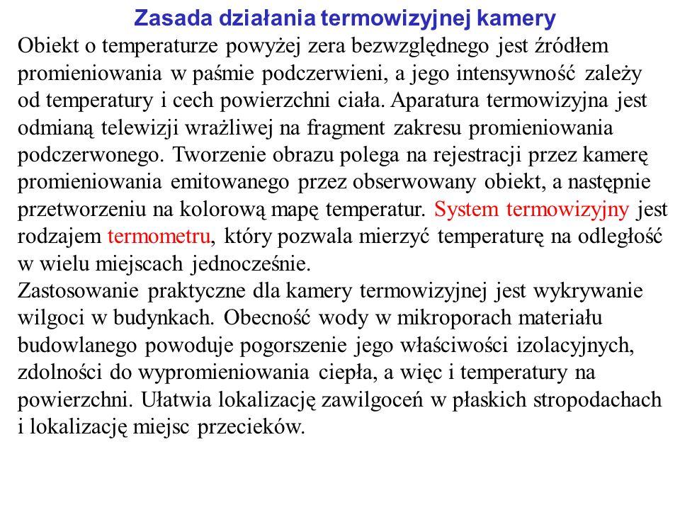 Zasada działania termowizyjnej kamery