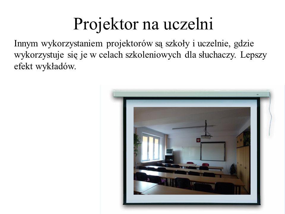 Projektor na uczelni