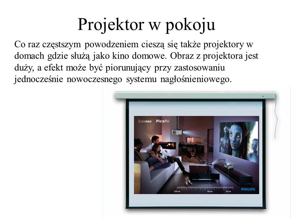 Projektor w pokoju
