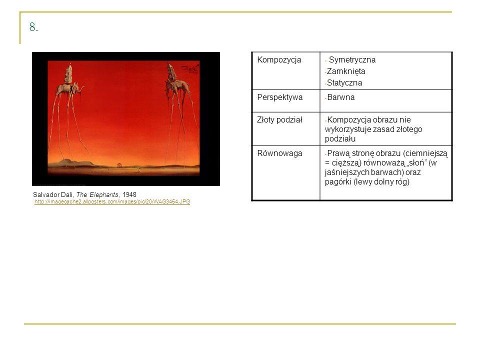 8. Kompozycja Symetryczna Zamknięta Statyczna Perspektywa Barwna
