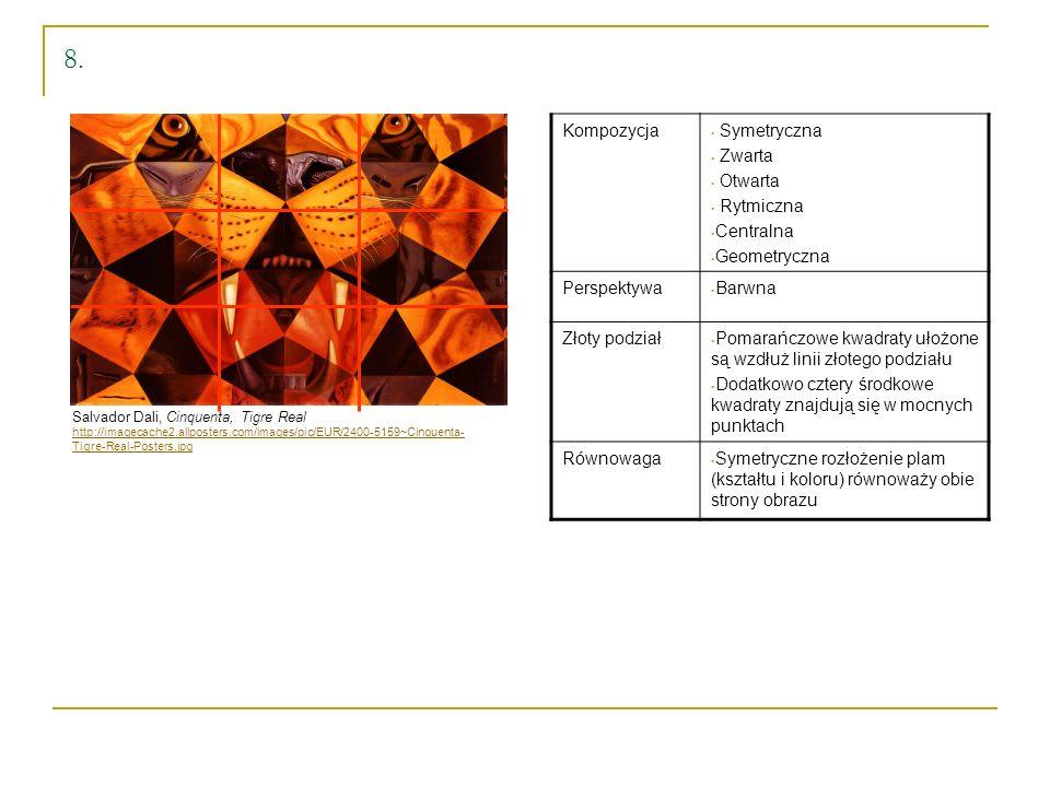 8. Kompozycja Symetryczna Zwarta Otwarta Rytmiczna Centralna
