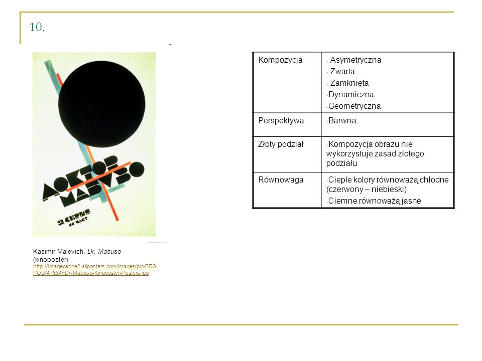 10. Kompozycja Asymetryczna Zwarta Zamknięta Dynamiczna Geometryczna