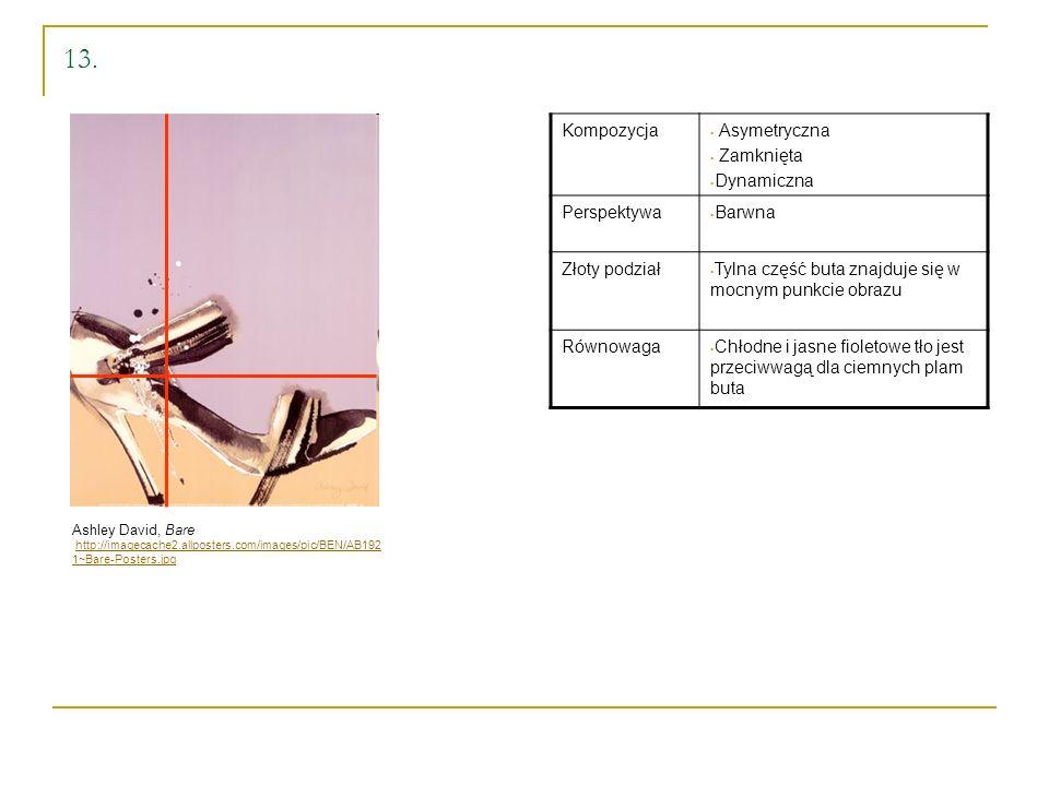 13. Kompozycja Asymetryczna Zamknięta Dynamiczna Perspektywa Barwna