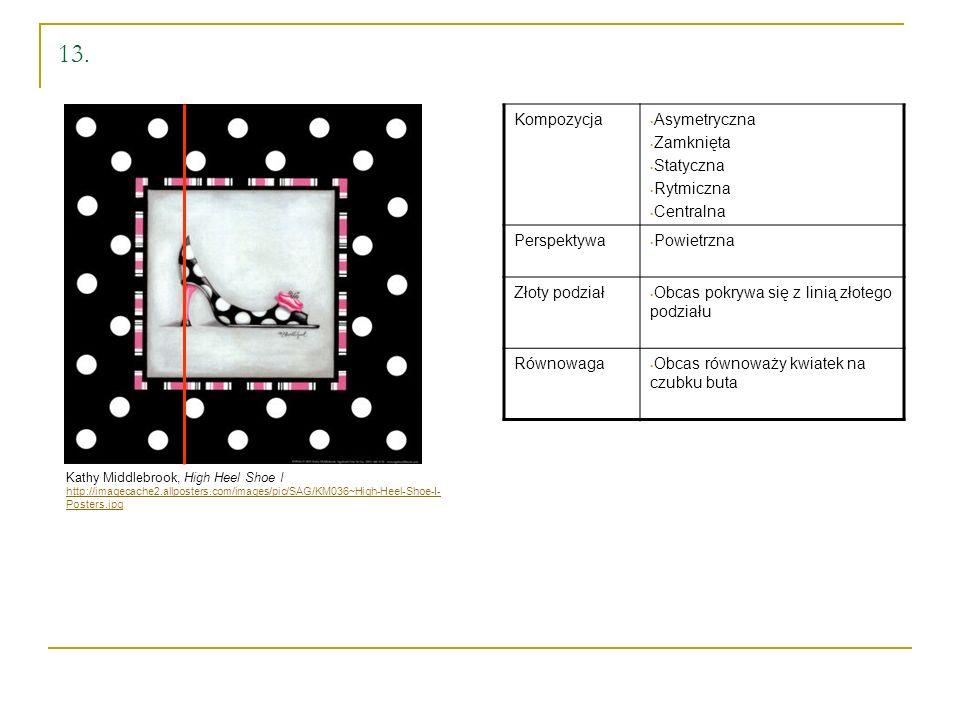 13. Kompozycja Asymetryczna Zamknięta Statyczna Rytmiczna Centralna