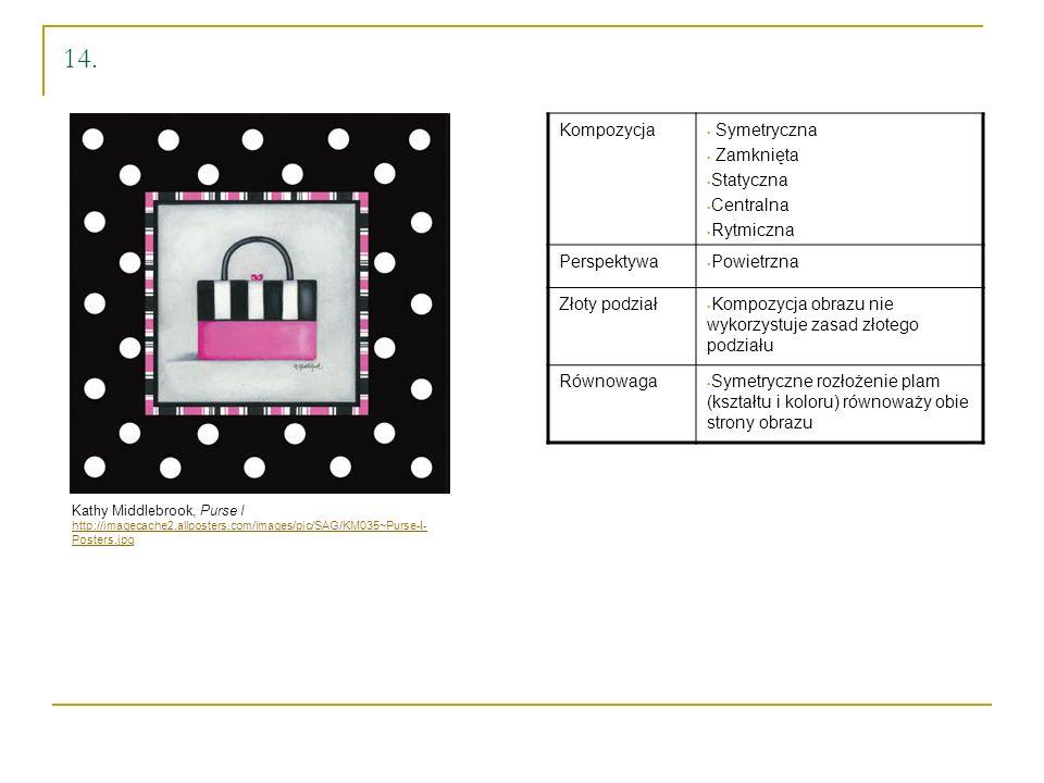 14. Kompozycja Symetryczna Zamknięta Statyczna Centralna Rytmiczna