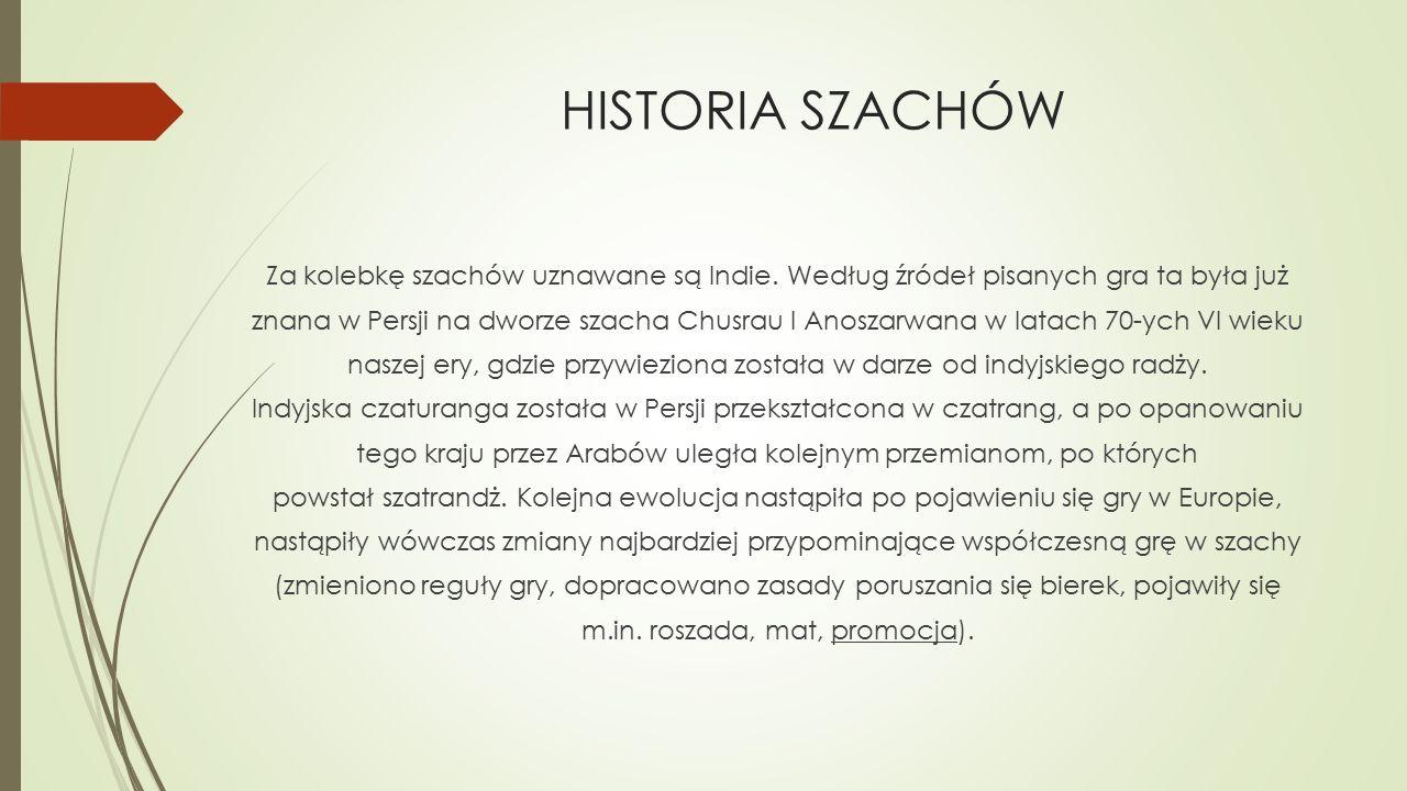 HISTORIA SZACHÓW