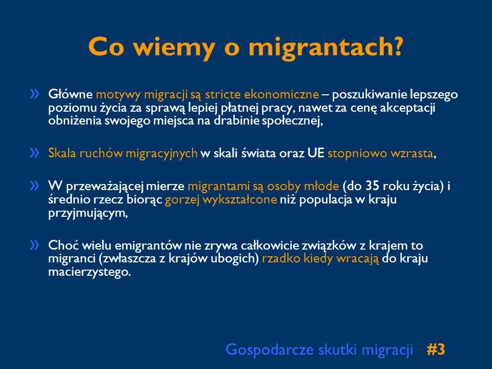 Co wiemy o migrantach Gospodarcze skutki migracji