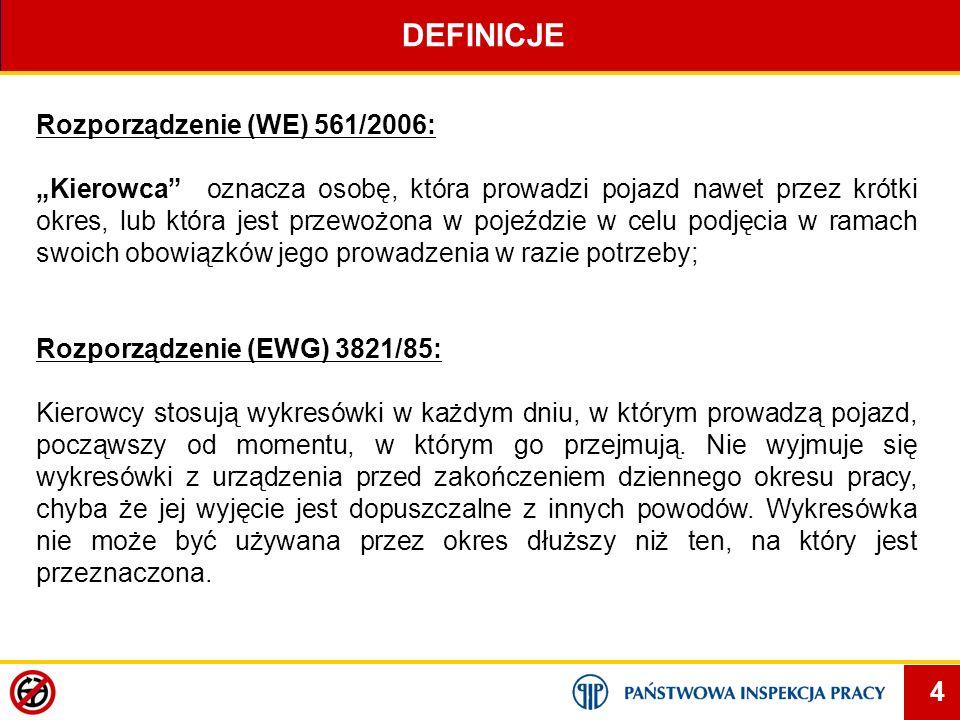DEFINICJE Rozporządzenie (WE) 561/2006: