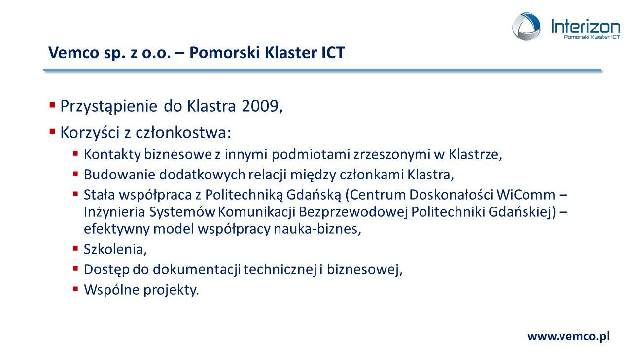 Vemco sp. z o.o. – Pomorski Klaster ICT