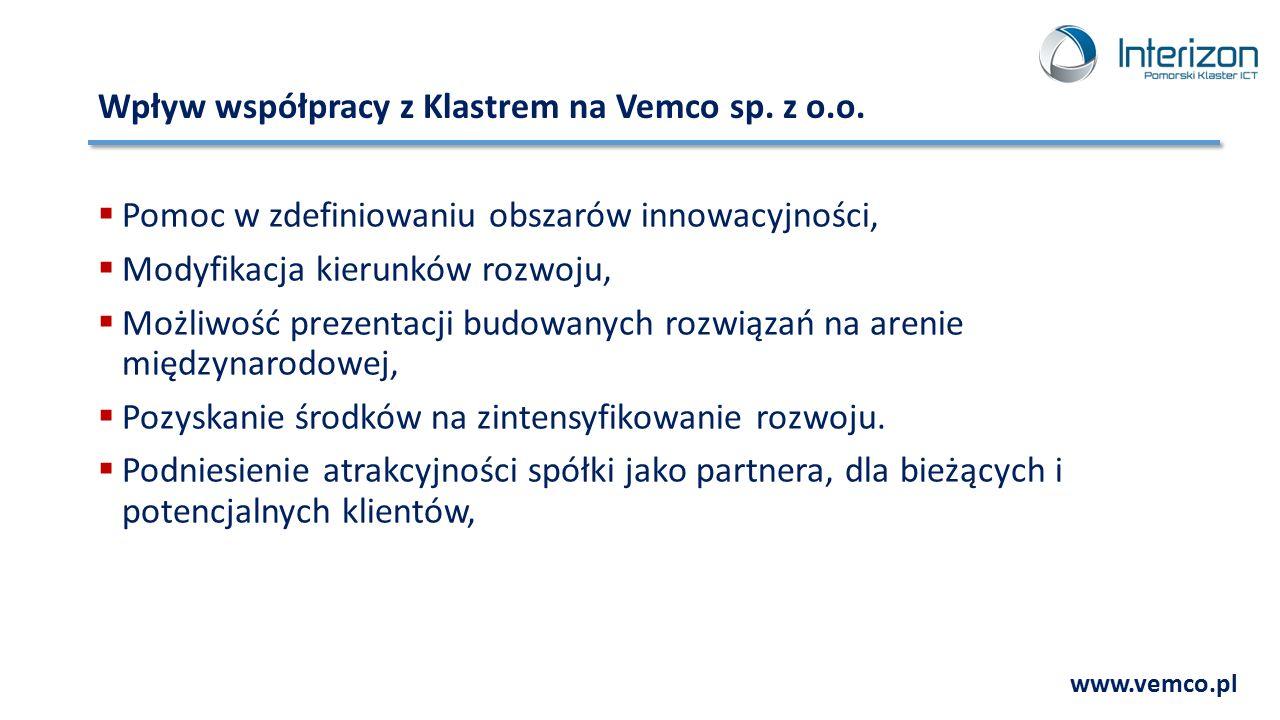 Wpływ współpracy z Klastrem na Vemco sp. z o.o.