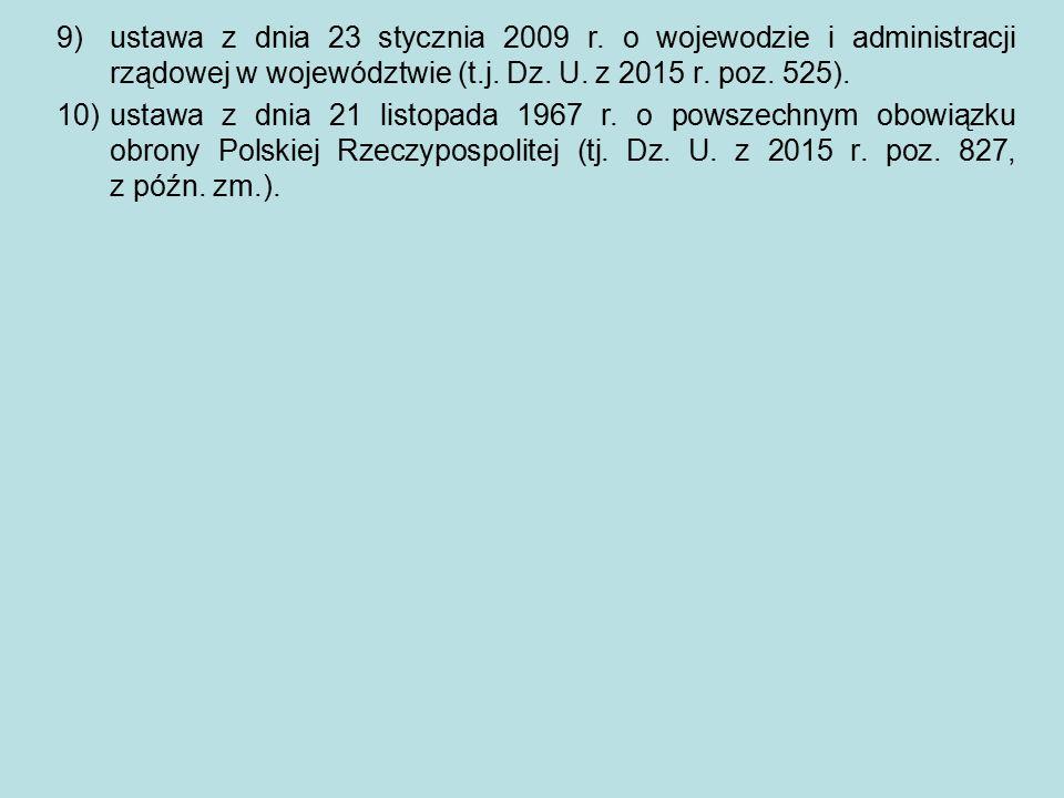 ustawa z dnia 23 stycznia 2009 r