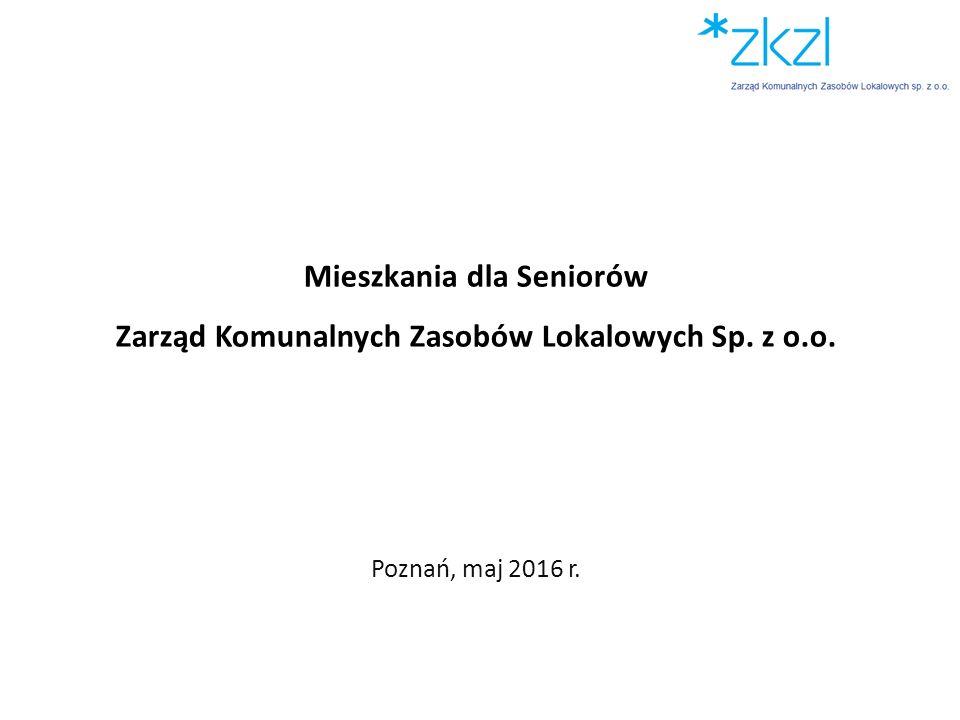 Mieszkania dla Seniorów Zarząd Komunalnych Zasobów Lokalowych Sp. z o