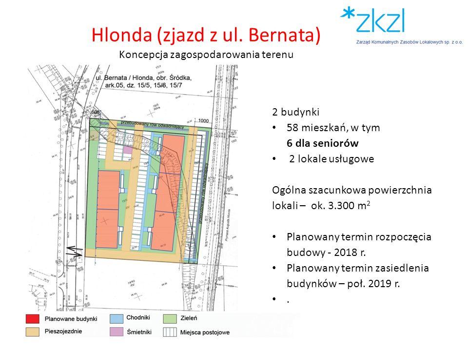 Hlonda (zjazd z ul. Bernata) Koncepcja zagospodarowania terenu