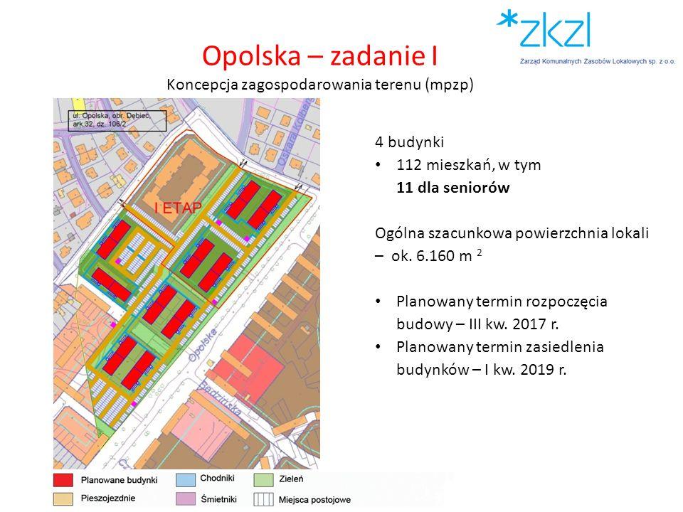 Opolska – zadanie I Koncepcja zagospodarowania terenu (mpzp)