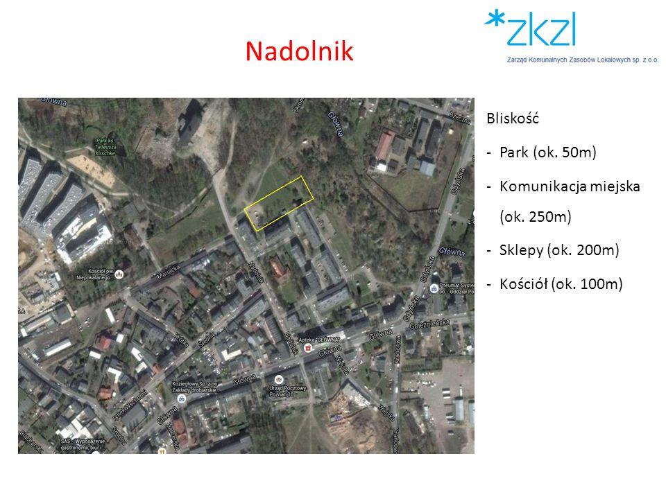 Nadolnik Bliskość Park (ok. 50m) Komunikacja miejska (ok. 250m)