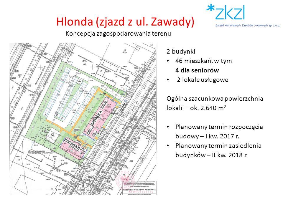 Hlonda (zjazd z ul. Zawady) Koncepcja zagospodarowania terenu