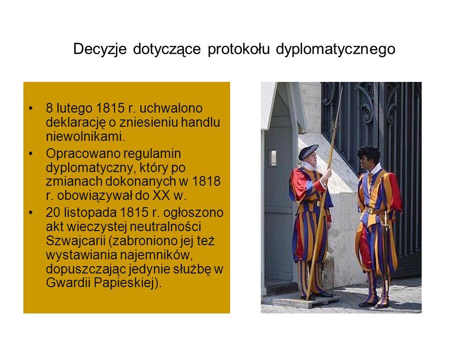 Decyzje dotyczące protokołu dyplomatycznego