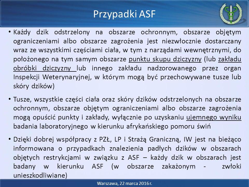 Przypadki ASF