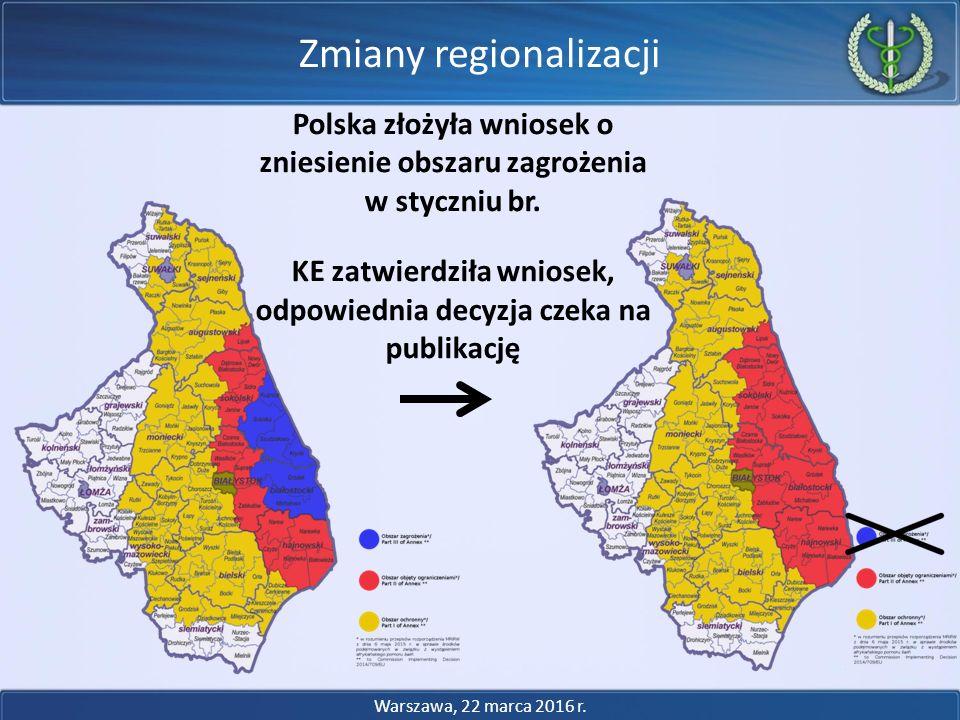 Zmiany regionalizacji