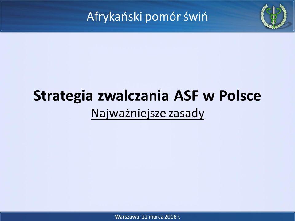 Strategia zwalczania ASF w Polsce