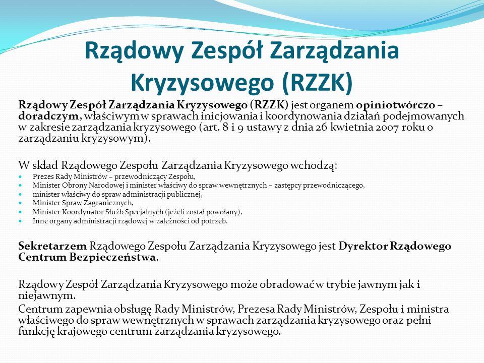 Rządowy Zespół Zarządzania Kryzysowego (RZZK)