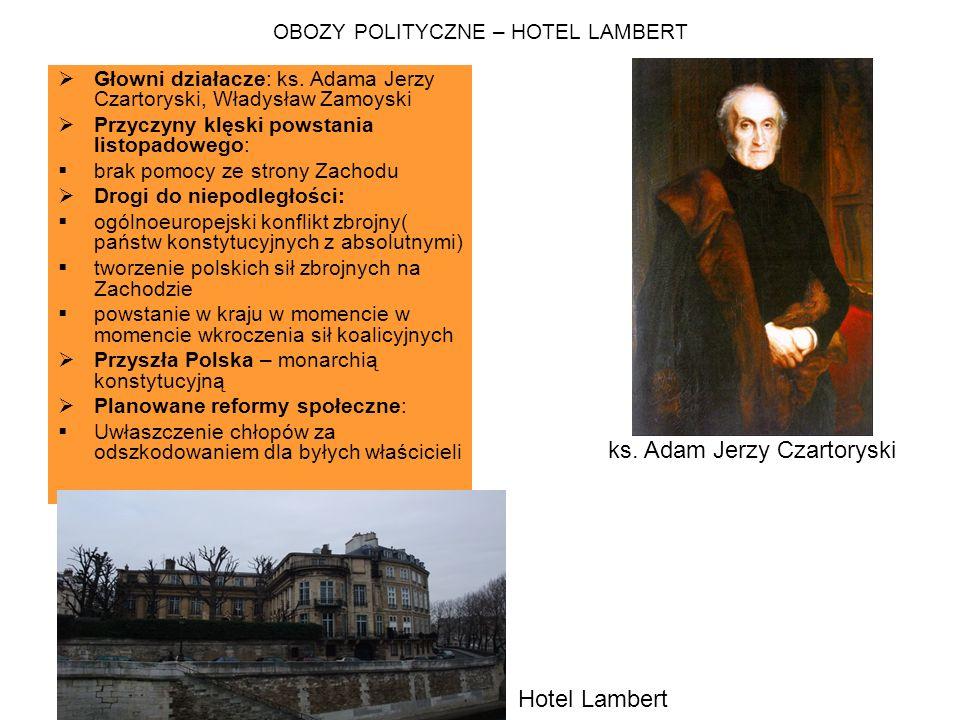 OBOZY POLITYCZNE – HOTEL LAMBERT
