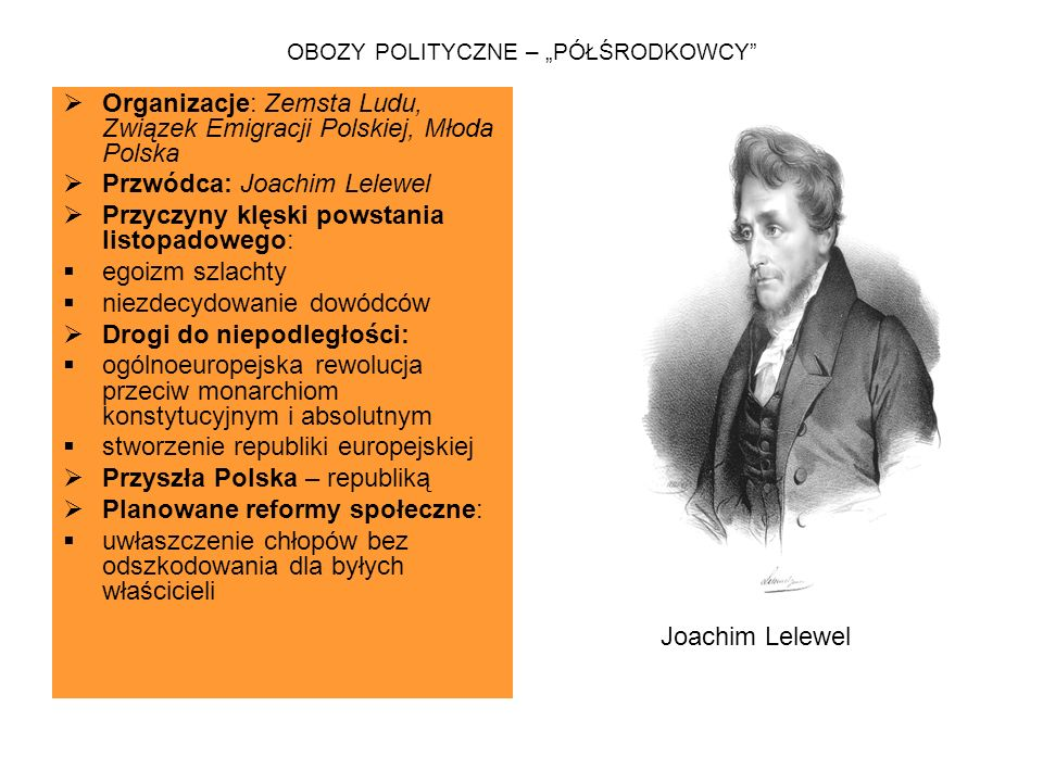 """OBOZY POLITYCZNE – """"PÓŁŚRODKOWCY"""