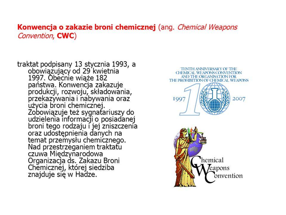 Konwencja o zakazie broni chemicznej (ang