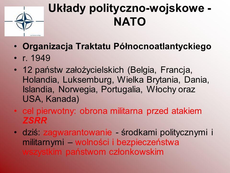 Układy polityczno-wojskowe - NATO