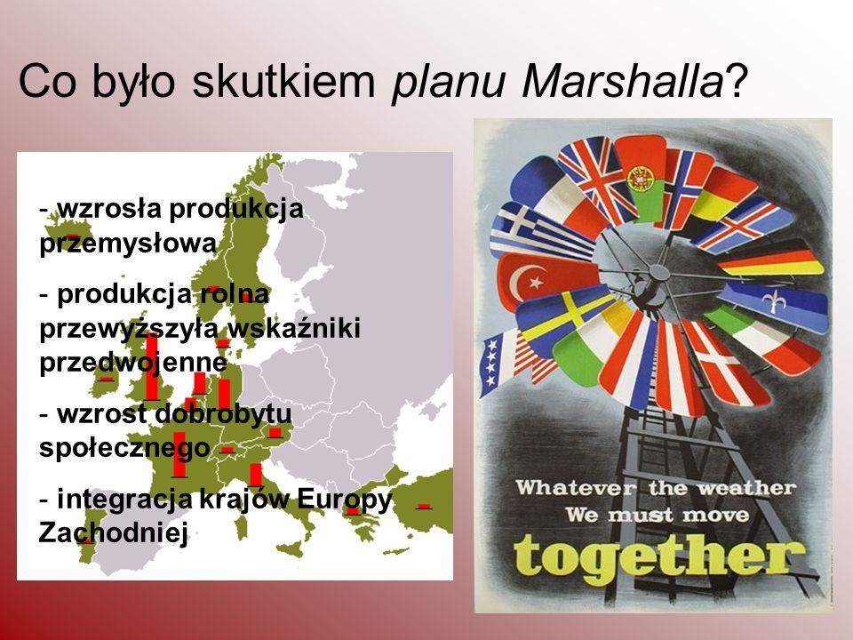 Co było skutkiem planu Marshalla