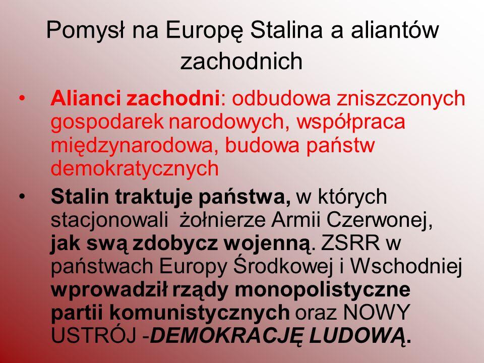 Pomysł na Europę Stalina a aliantów zachodnich