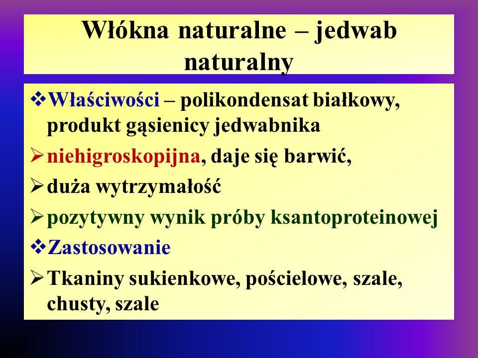 Włókna naturalne – jedwab naturalny