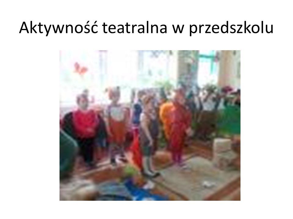 Aktywność teatralna w przedszkolu