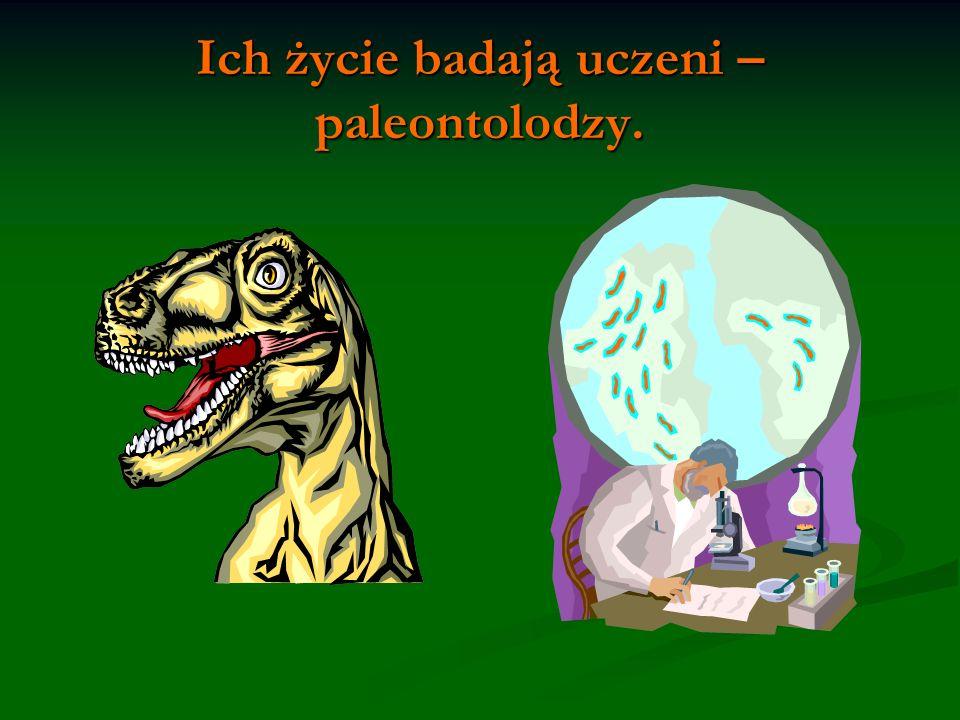 Ich życie badają uczeni – paleontolodzy.