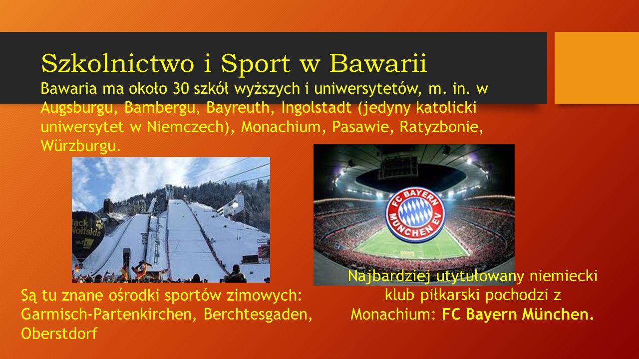 Szkolnictwo i Sport w Bawarii