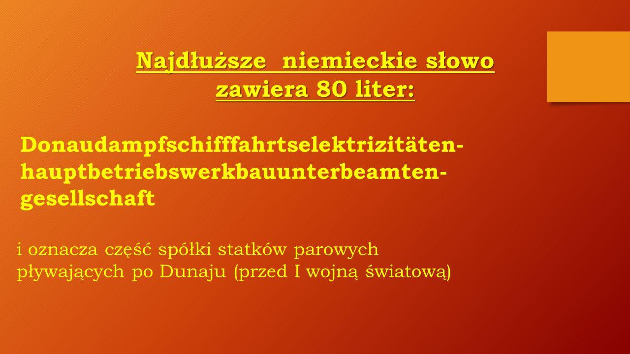 Najdłuższe niemieckie słowo