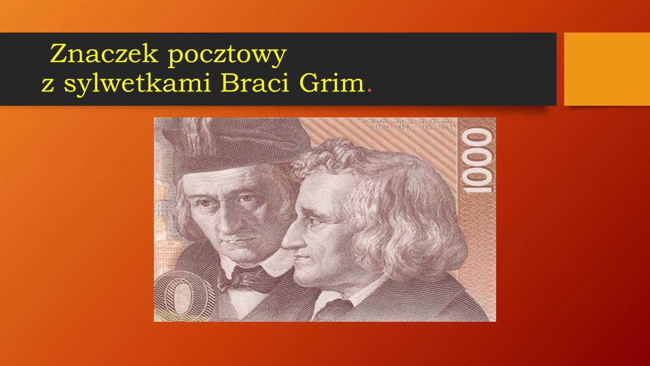 Znaczek pocztowy z sylwetkami Braci Grim.