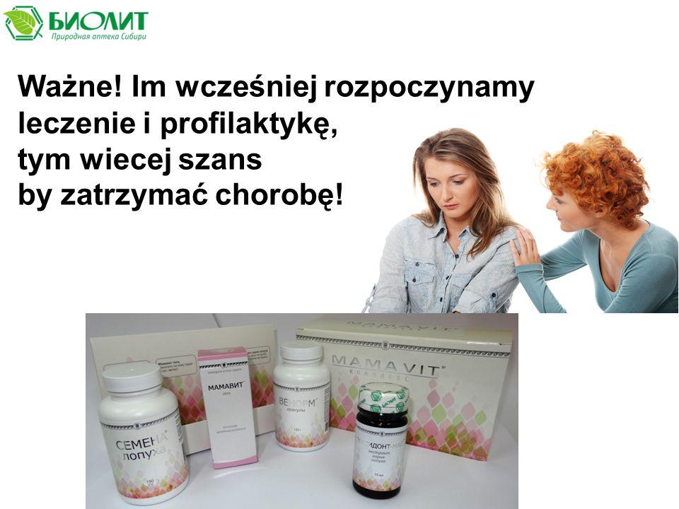 Ważne! Im wcześniej rozpoczynamy leczenie i profilaktykę, tym wiecej szans by zatrzymać chorobę!
