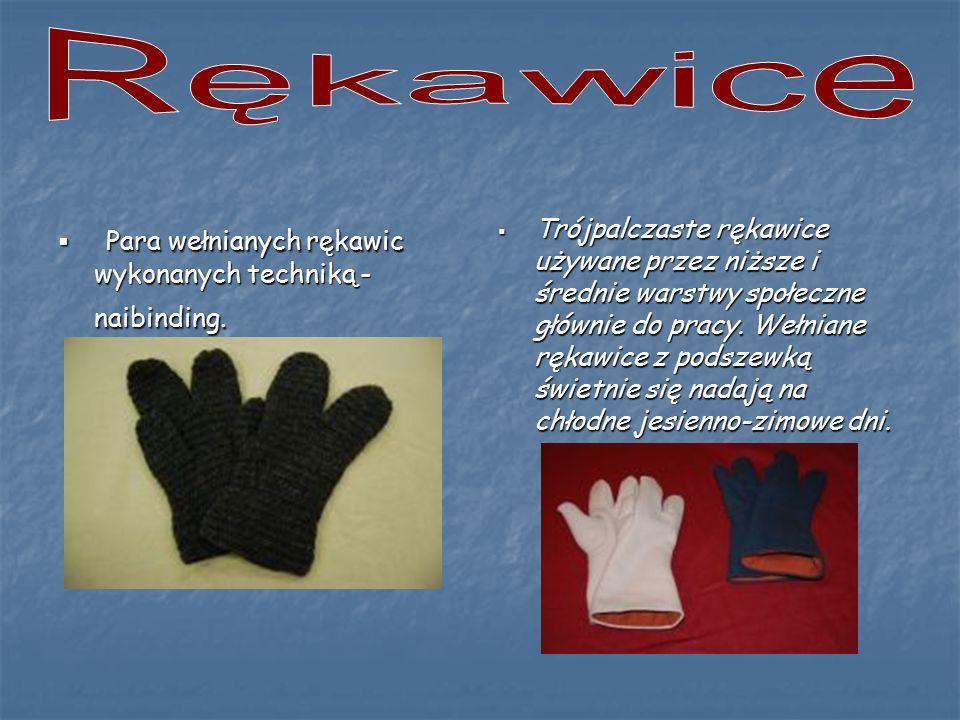 Rękawice Para wełnianych rękawic wykonanych techniką - naibinding.