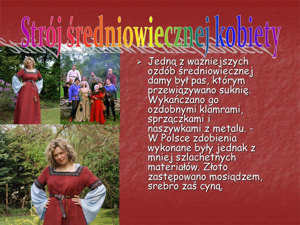 Strój średniowiecznej kobiety