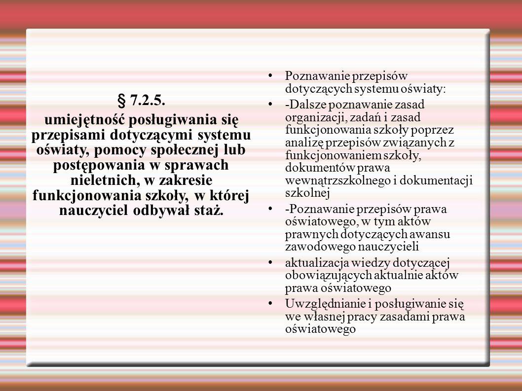 Poznawanie przepisów dotyczących systemu oświaty: