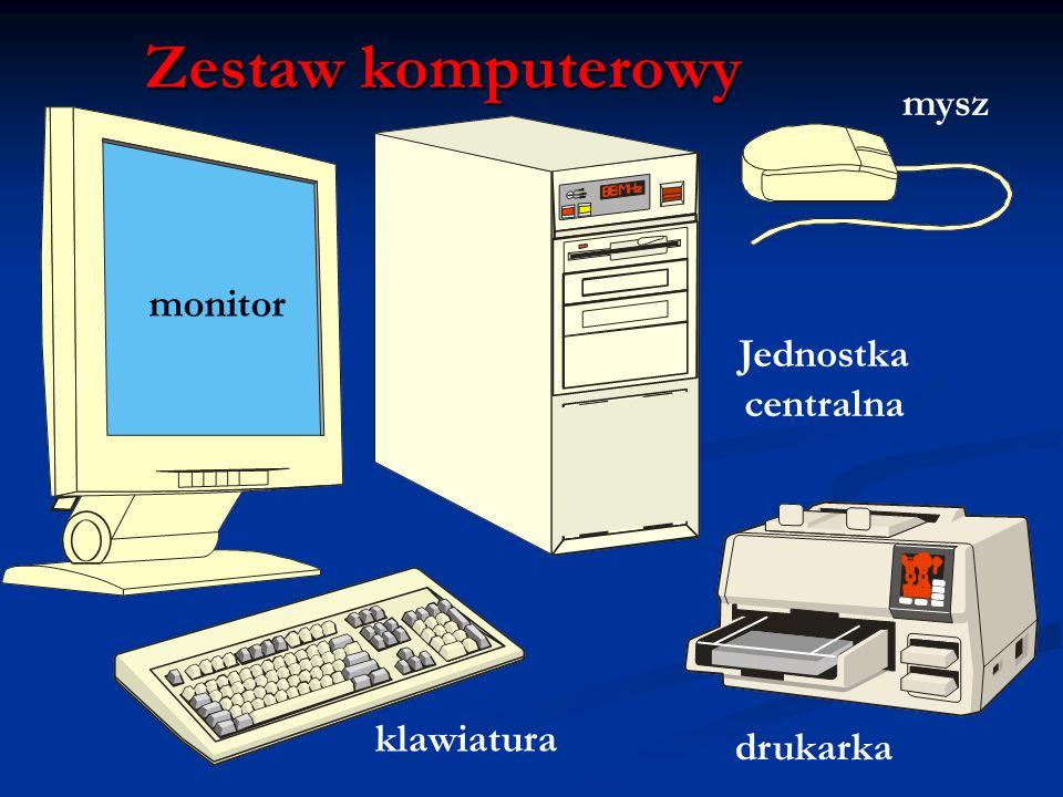 Zestaw komputerowy mysz monitor Jednostka centralna klawiatura