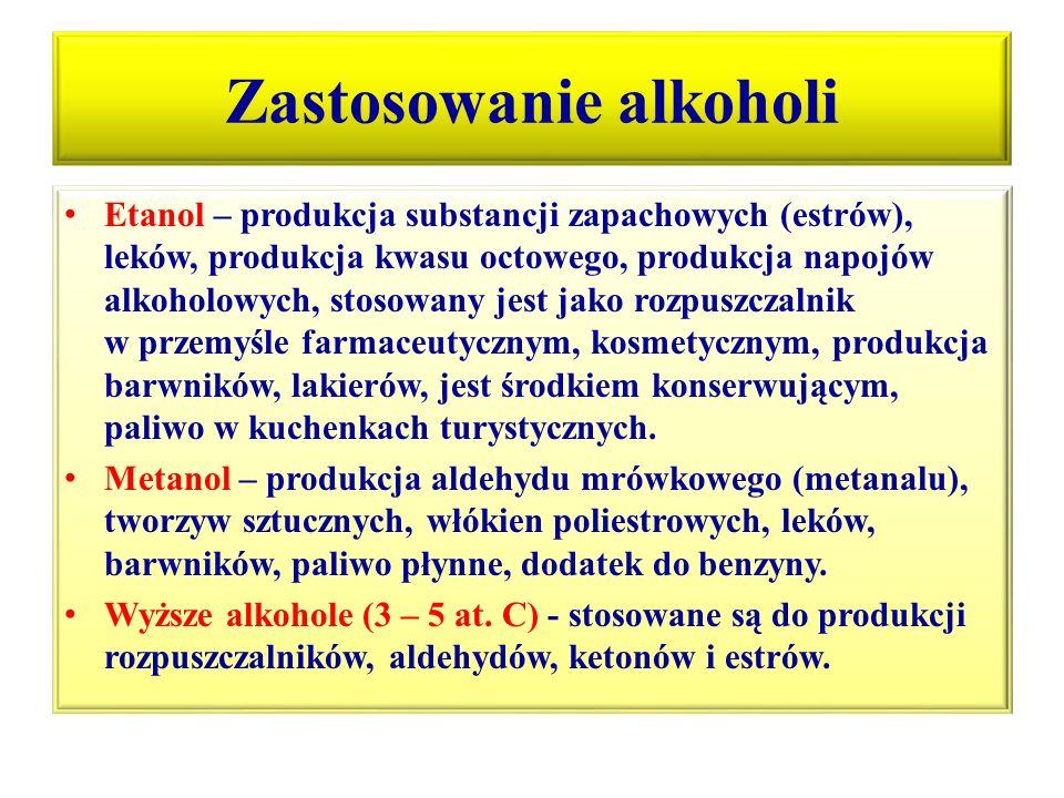 Zastosowanie alkoholi